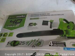 GreenWorks Brushless Blower/Vac Please Preview