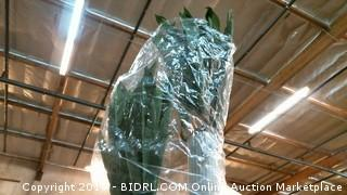 Artificial Plant in stand/ damaged please preview