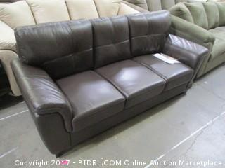 Abbyson Sofa MSRP $2060.00 Please Preview Damage At back
