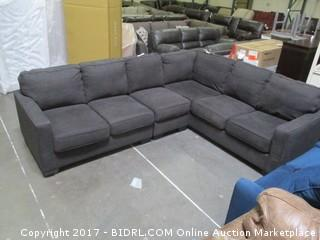 Sectional Please Preview MSRP $2400.00 damaged at back