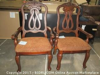 North Shore Upholstered  2 Chairs MSRP $800.00 Please Preview