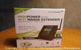 High Power Wi FI Range Extender Powers on Please Preview