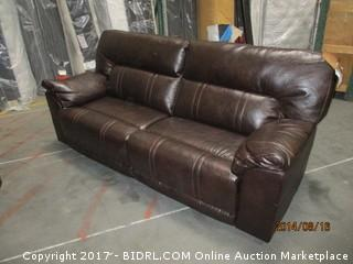 Barrettsville Reclining Sofa  MSRP $2000.00 Please Preview