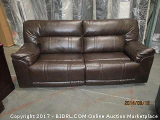 Benchcraft Reclining Sofa MSRP $2000.00 Please Preview