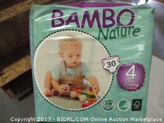 Bamboo Nature Diapers Size 4 30 Count