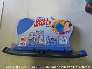 Wall Whale Swimming Pool Brush Holder
