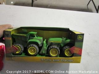 John Deere Toy Truck and Tractor