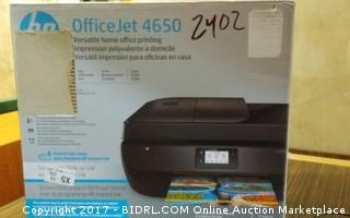HP Officejet Powers on Please Preview