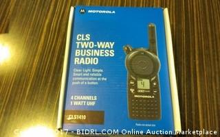 Motorola CLS Two Way Business Radio Please Preview Powers on