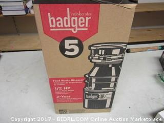 Badger Garbage Disposal 1/2 HP