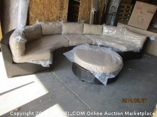 Outdoor Sectional with Coffee table /glass top/cushion Please Preview