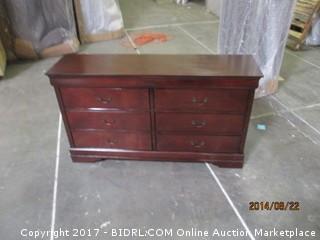 Dresser Corner Damaged  MSRP $1895.00 PLease Preview