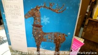 Lighted Standing Deer Please preview