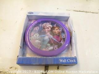 Frozen Wall Clock/ damaged please preview