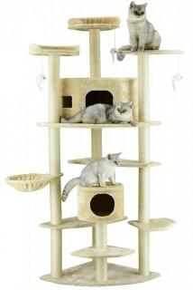 Go Pet Club Cat Tree, 80-Inch, Beige (Retail $94.00)