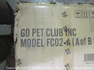 Go Pet Club Cat Tree Condo Furniture, Beige (Retail $145.00) - INCOMPLETE SET