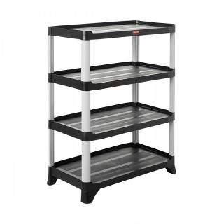Rubbermaid Commercial Storage 4- Shelf Unit, Black (Retail $337.00)