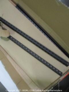 Edsal Black Steel Storage Rack, Adjustable Shelves (Retail $59.00)