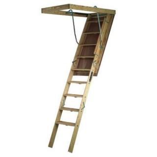Louisville Ladder Big Boy Wood Attic Ladder (Retail $230.00)