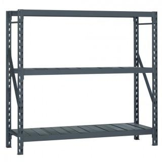 Edsal E-RACK Bulk Storage Rack with Steel Decking, Add-On Type, 3 Shelves (Retail $412.00)