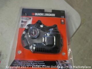 Black and Decker High Pressure Inflator Attachment