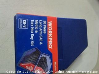 Workpro 30 Piece Torx Head Key Set