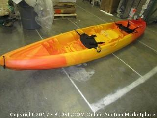 Perception Kayak Rambler Sunset Kayak, Red/Yellow, Size 13.5 T (Retail $559.00)
