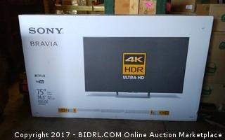 """Sony Bravia  75"""" 4k TV  (New In The Box, Never Opened,No Previews)"""
