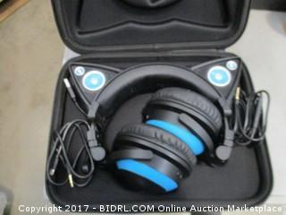 Cat Ear Headphones with Speakers
