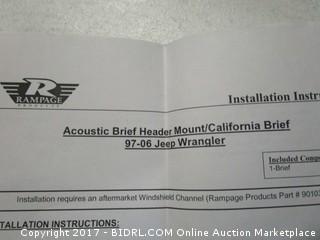 Acoustic Brief Header Mount