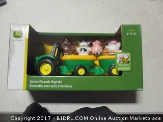 Animal Sounds Toy Tractor