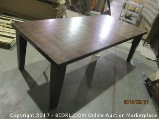 Signature Dining Table Some damage  Please preview