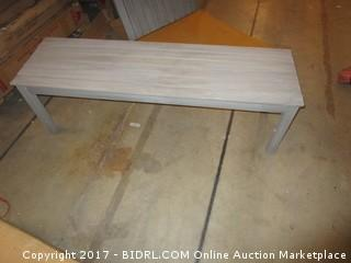World Market  Table and Bench/ damaged/ no hardware Please Preview