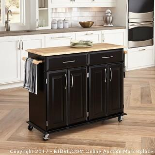 Home Styles 4528-95 Dolly Madison Kitchen Cart, Black Finish (Retail $228.00) - ACCESSORIES NOT INCLUDED