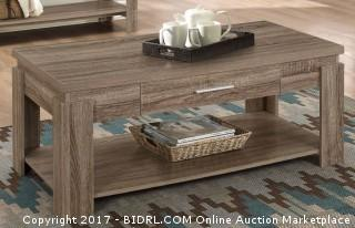 ACME Furniture Xanti Coffee Table, Dark Taupe (Retail $95.00) - ACCESSORIES NOT INCLUDED