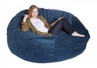 Giant Bean Bag Chairs Premium Foam-Filled Lounge Sac, Posh Microfiber (Retail $349.00)