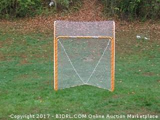 EZGoal Lacrosse Folding Goal with Backstop and Targets, Orange (Retail $127.00)
