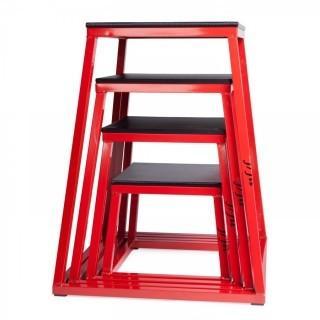 JFIT Plyo Box (Set of 4), Black/Red (Retail $434.00)