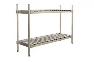 "PVIFS KR204760-2 Keg Shelving Unit, 8 Keg Capacity, 60"" Length x 20"" Width x 48"" Height, 2 Shelves (Retail $333.00)"
