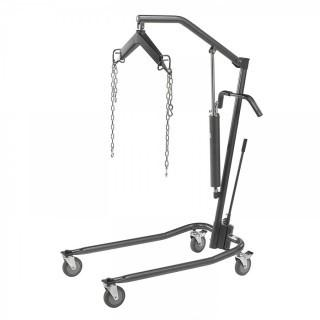 "Drive Medical Hydraulic Patient Lift with Six Point Cradle, 5"" Casters, Silver Vein (Retail $381.00)"