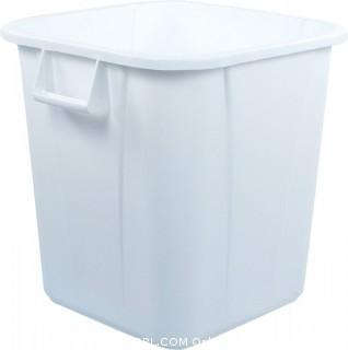 "Carlisle 34152802 Bronco Polyethylene Square Waste Container, 28-gal. Capacity, 20-1/2 x 21-1/4 x 22-1/2"", White (Case of 6) (Retail $195.00)"