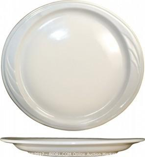 24-PIECE York Platter, 10-7/8 by 10-Inch, Embossed, American White (Retail $5,659.00)