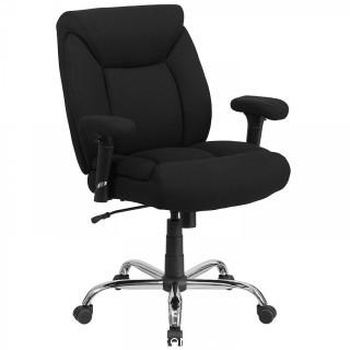 Flash Furniture HERCULES Series Big & Tall 400 lb. Rated Black Fabric Swivel Task Chair with Adjustable Arms (Retail $171.00)