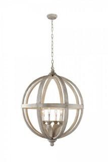 Y Decor Modern, Transitional, Traditional 4 Light Wood Orb Chandelier By Y Décor, Antique, Wood (Retail $451.00)