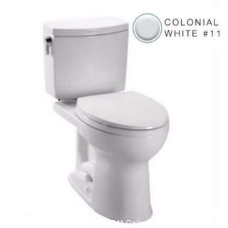 Toto C454CUFG#11 Drake II 1G Toilet Bowl with SanaGloss, Colonial White, 2-Piece (Retail $269.00)