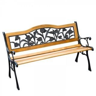 "Outsunny 50"" Floral Outdoor Patio Garden Park Bench (Retail $98.00)"