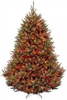 National Tree 7.5 Foot Natural Fraser Fir Tree with Multicolor Lights, Hinged (Retail $317.00)