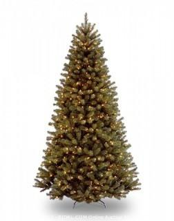 National Tree 9-Foot North Valley Spruce Tree with Clear Lights, Hinged (Retail $271.00)
