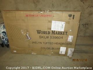 World Market Jaelyn Tufted Headboard , damaged Please Preview