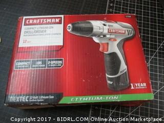 Craftsman Compact Lithium-ion Drill/Driver Please Preview